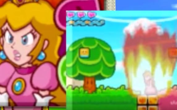 peach on fire