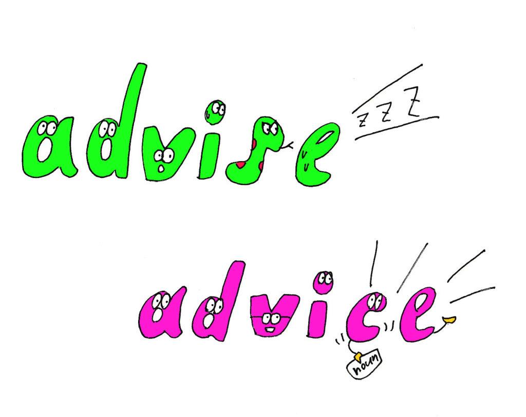 advise-advice