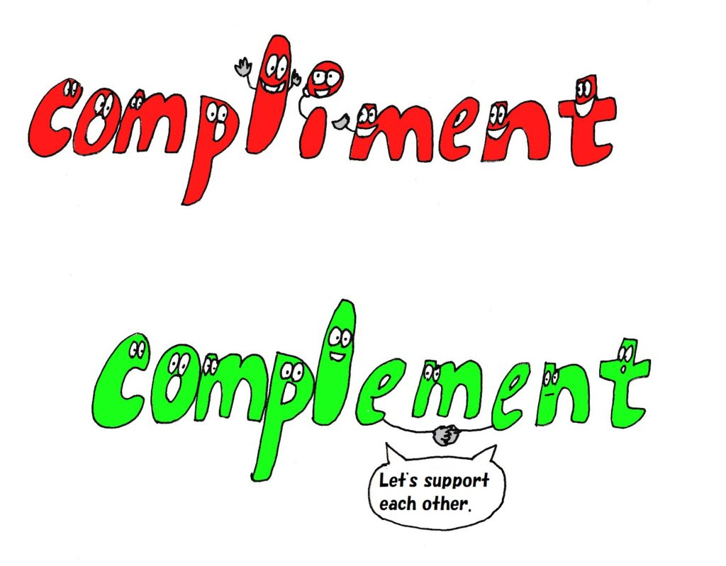 compliment and complement