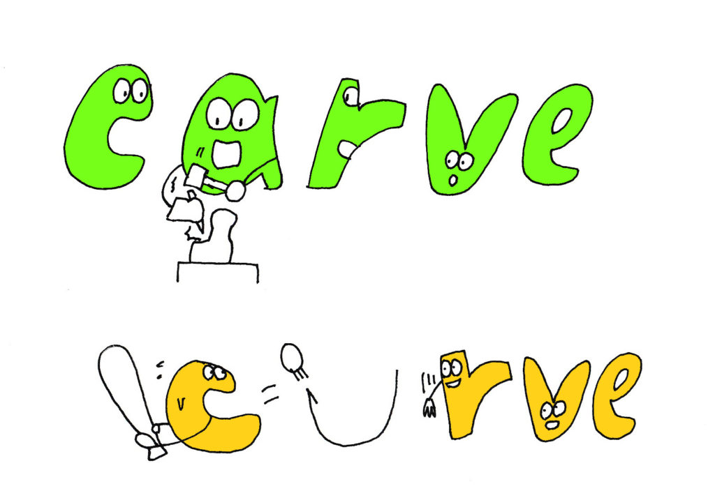 carve and curve