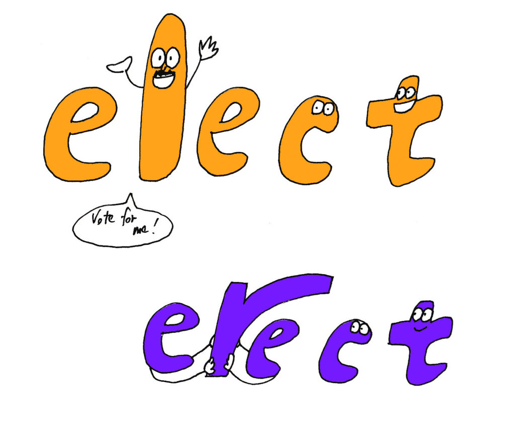 elect and erect