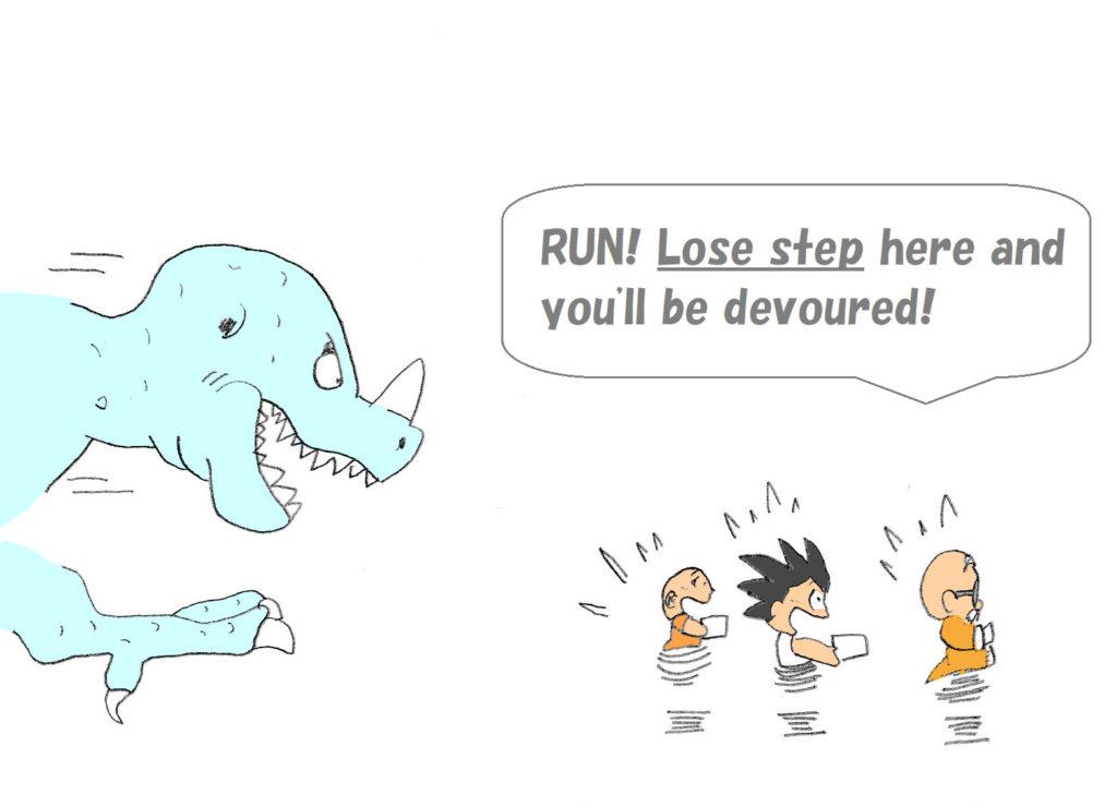 lose step