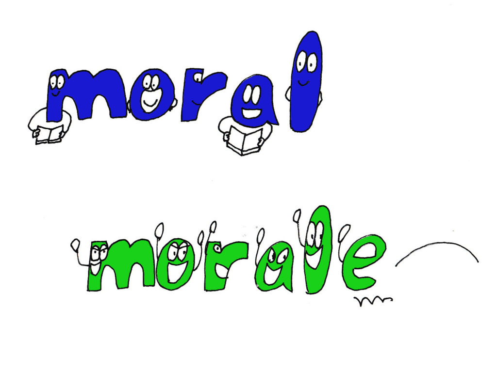 moral and morale